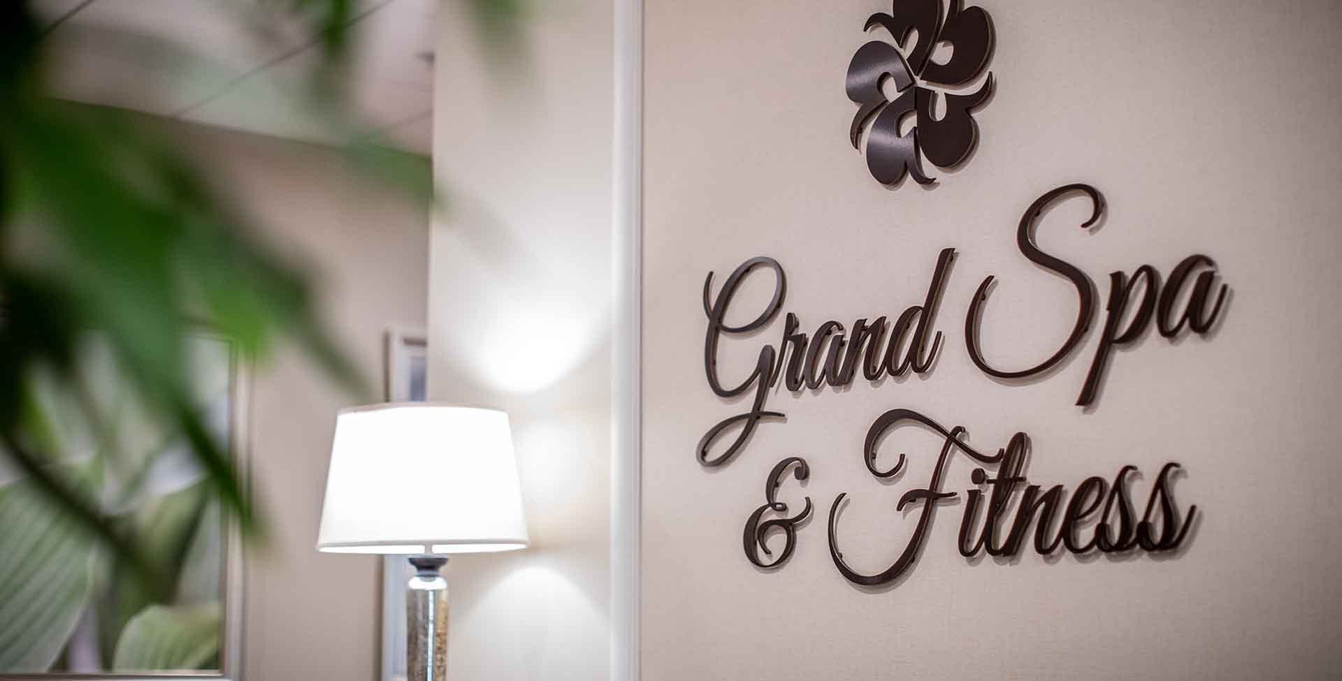 Grand Spa and Fitness center signage