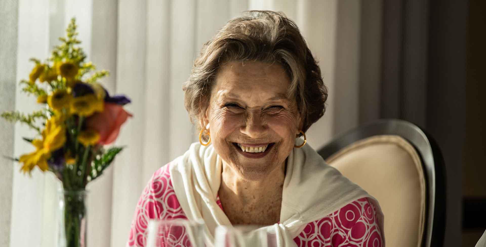 smiling resident