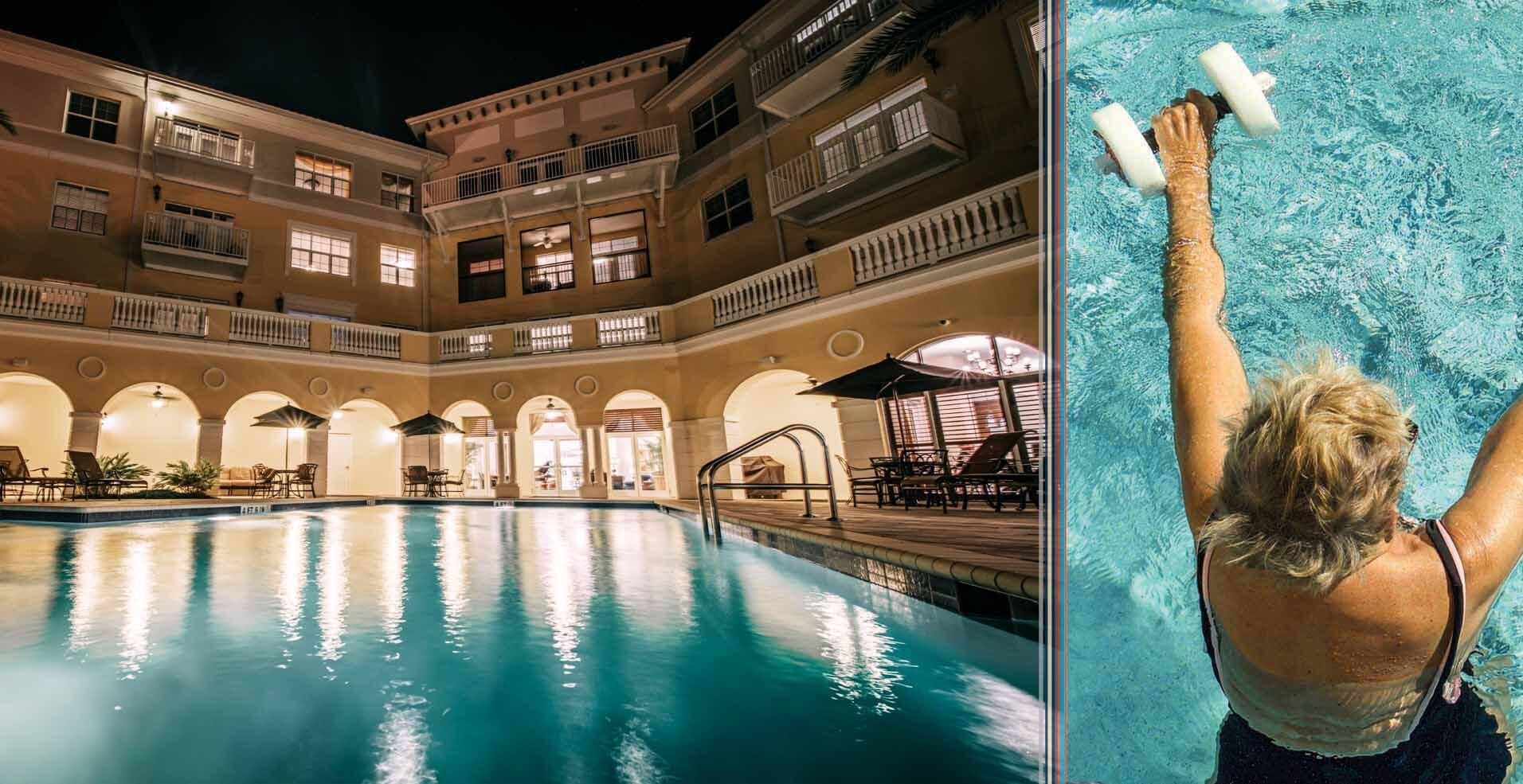 Grand Living Senior Living Swimming Pool